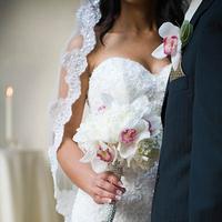 Flowers & Decor, white, pink, silver, Bride Bouquets, Modern, Flowers, Modern Wedding Flowers & Decor, Bouquet, Florist, Cesaro designs