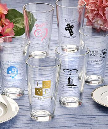 Ceremony, Reception, Flowers & Decor, Favors & Gifts, Registry, Favors, Drinkware, Glasses, Personalized, Pint, Flavor your favors