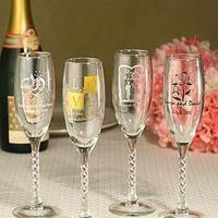 Ceremony, Reception, Flowers & Decor, Bridesmaids, Bridesmaids Dresses, Fashion, Registry, ivory, Drinkware, Champagne, Glasses, Flutes, Glass, Personalized, Flavor your favors
