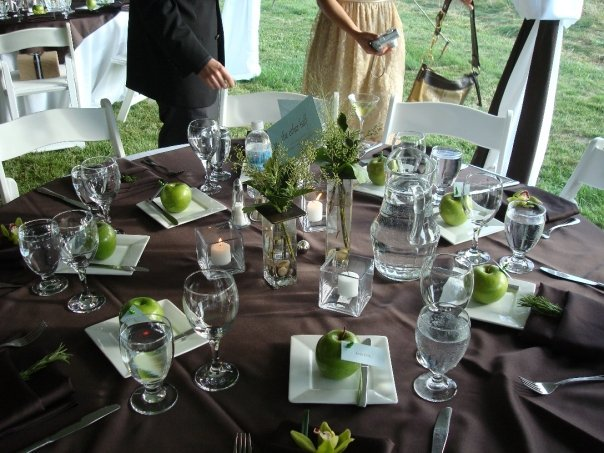 Reception, Flowers & Decor, Decor, Stationery, green, brown, Invitations, Table, Day of coordination by sara gorski