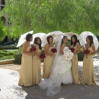 Flowers & Decor, Bridesmaids, Bridesmaids Dresses, Fashion, red, gold, Bridesmaid Bouquets, Flowers, Flower Wedding Dresses