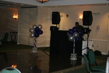 Inspiration, Reception, Flowers & Decor, purple, silver, Board, Dj, Not just balloons