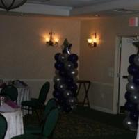 Reception, Flowers & Decor, Bridesmaids, Bridesmaids Dresses, Fashion, purple, silver, Entrance, Way, Not just balloons