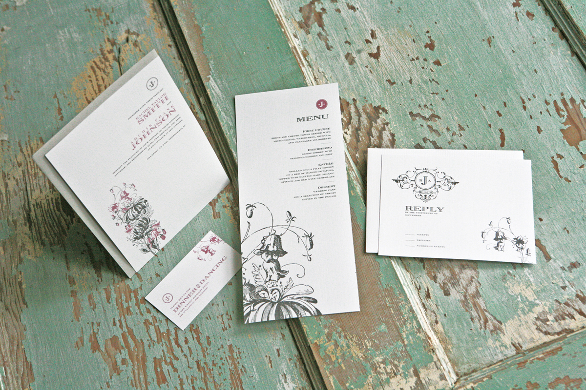 Stationery, silver, invitation, Invitations, Menu, Wedding, Dancing, Floral, Card, Dinner, Botanical, Reply, Lanodesignstudio