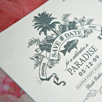 Stationery, Destinations, Beach, Invitations, Ticket, Tropical, Destination, Airplane, Lanodesignstudio