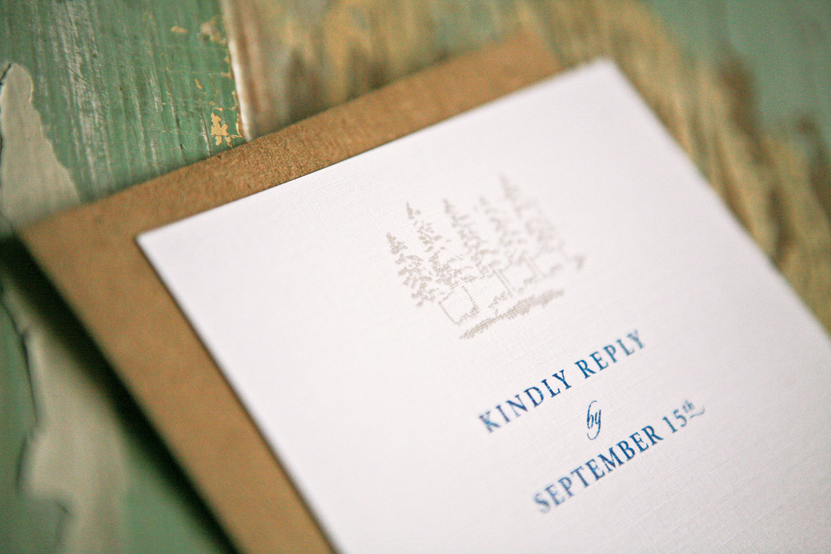 Stationery, white, blue, brown, Invitations, Card, Reply, Lanodesignstudio