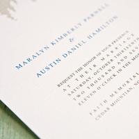 Stationery, white, blue, brown, Invitations, Lanodesignstudio