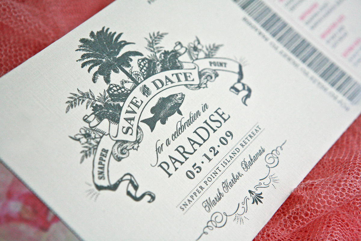 Stationery, Destinations, Beach, Invitations, Ticket, Tropical, Destination, Airplane, Lanodesignstudio