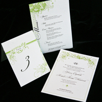 Flowers & Decor, Stationery, Paper, white, green, brown, invitation, Summer, Garden, Garden Wedding Invitations, Announcements, Invitations, Table Numbers, Menu, Table, Hand, The, Weddings, Number, Save, Date, Card, Announcement, Goods, Made, Suite, Reply, Lanodesignstudio