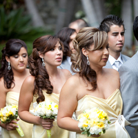 Beauty, Ceremony, Flowers & Decor, Bridesmaids, Bridesmaids Dresses, Fashion, yellow, Bridesmaid, Hair, Hair by gwen huyen