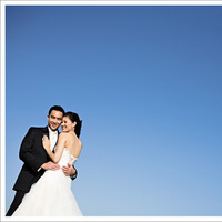 blue, Bride, Groom, Portrait, Married, Sky, Mieng saetia photography