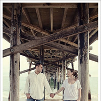 Beach, Engagement, Pier