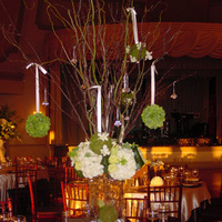 Reception, Flowers & Decor, white, green, brown, Centerpieces, Centerpiece, Headtable