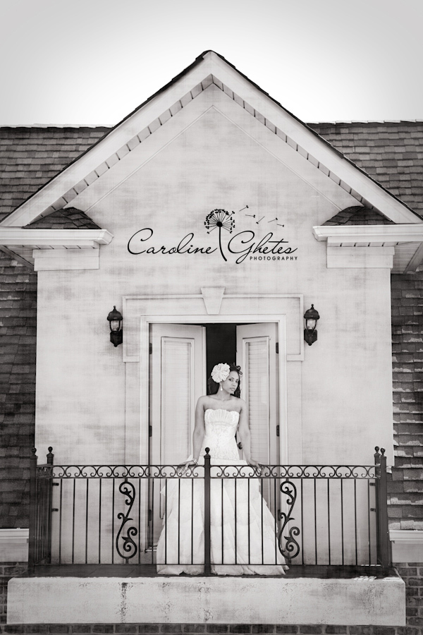 Wedding Dresses, Fashion, white, black, dress, Bride, Stand, Balcony, Standing, Caroline ghetes photography
