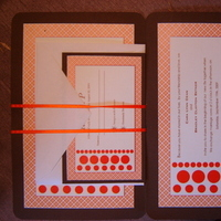 DIY, Stationery, orange, brown, Invitations