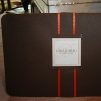 DIY, Stationery, orange, brown, Invitations