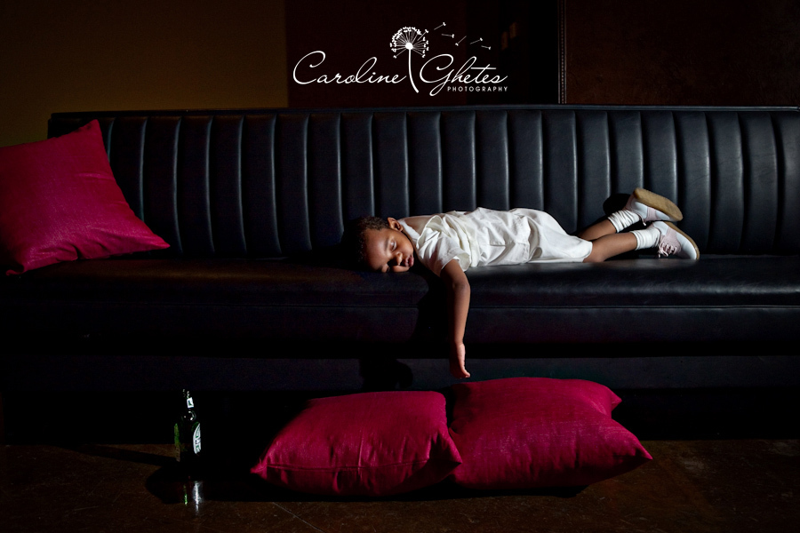 Reception, Flowers & Decor, white, red, black, Lounge, Baby, Alcohol, Boy, Beer, Couch, Caroline ghetes photography, Sleeping, Passed out, Sofa