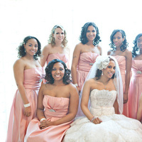 Beauty, Flowers & Decor, Bridesmaids, Bridesmaids Dresses, Wedding Dresses, Fashion, white, pink, silver, dress, Bride Bouquets, Bridesmaid Bouquets, Bride, Flowers, Bridesmaid, Hair, Dresses, Brides maids, Hot pink, Caroline ghetes photography, Brides maid, Flower Wedding Dresses