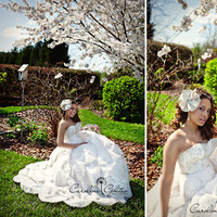 Beauty, Flowers & Decor, Wedding Dresses, Fashion, pink, dress, Makeup, Garden, Bride, Flower, Hair, Sitting, Sit, Caroline ghetes photography
