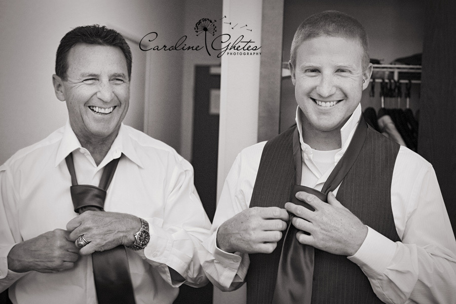 white, black, Groom, Getting ready, Father, Tie, Vest, Caroline ghetes photography