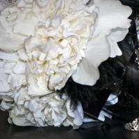 DIY, Flowers & Decor, white, black, Bride Bouquets, Flowers, Bouquet, Of, My, Picture, Silk, Detailed