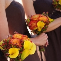 Flowers & Decor, Bridesmaids, Bridesmaids Dresses, Fashion, white, orange, brown, Bridesmaid Bouquets, Flowers, Girls, Flower Wedding Dresses