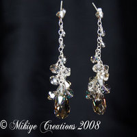 Jewelry, silver, Earrings, Swarovski, Crystals, Etsy mikiye creations, Mikiye creations
