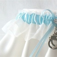 Ceremony, Reception, Flowers & Decor, Bridesmaids, Bridesmaids Dresses, Fashion, white, blue, silver, Garters by gingersnap