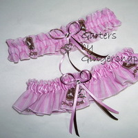 Ceremony, Reception, Flowers & Decor, Bridesmaids, Bridesmaids Dresses, Fashion, pink, brown, Garters by gingersnap