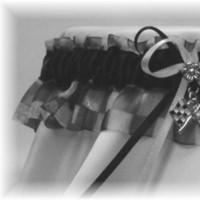 white, black, Wedding, Bridal, Garter, Garters by gingersnap, Racing, Nascar