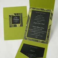 Inspiration, Stationery, green, black, silver, invitation, Invitations, Board, Pocketfold, Do-it-yourself, Envelopmecom