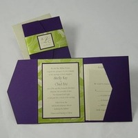 Inspiration, Stationery, purple, green, invitation, Invitations, Board, Pocketfold, Do-it-yourself, Envelopmecom