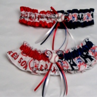 Ceremony, Reception, Flowers & Decor, white, red, blue, Wedding, Baseball, Garters by gingersnap