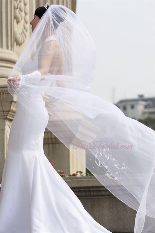 Beauty, Veils, Fashion, white, silver, Bride, Veil, Hair