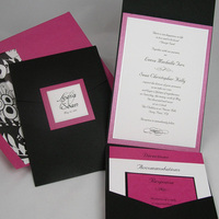 Stationery, purple, black, Invitations, Envelopmecom