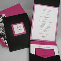 Stationery, purple, black, Invitations, Envelopmecom