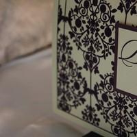 Stationery, purple, green, Invitations, Ana de roux invitations and design
