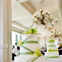 Cakes, white, green, cake, Kim mendoza photography