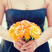 Flowers & Decor, Bridesmaids, Bridesmaids Dresses, Fashion, orange, Bridesmaid Bouquets, Flowers, Kim mendoza photography, Flower Wedding Dresses