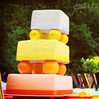 Cakes, orange, cake, Unique, Colorful, Lemons, Wedding decorations, Effervescent media works, Oranges, Fruit cake