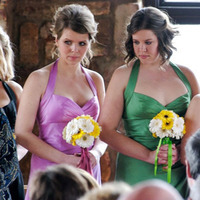 Ceremony, Flowers & Decor, Bridesmaids, Bridesmaids Dresses, Wedding Dresses, Fashion, pink, red, purple, green, dress, Ceremony Flowers, Bridesmaid Bouquets, Flowers, Michelle posey photography, Jewel tones, Flower Wedding Dresses