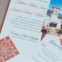 Stationery, Destinations, orange, brown, gold, invitation, Invitations, Postcard, Destination, Rsvp, Proskalo inc