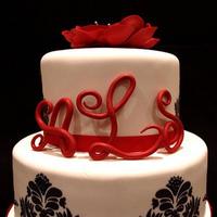 Reception, Flowers & Decor, Cakes, black, cake
