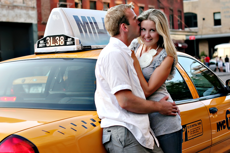 Fashion, Couple, Engagement session, Urban, Taxi, Stylish, Michelle hayes photography, New york city, Chelsea, Meatpacking district