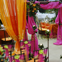 Ceremony, Flowers & Decor, orange, purple
