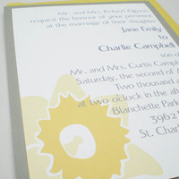 Flowers & Decor, Stationery, yellow, gray, invitation, Invitations, Flower, Grey, Rsvp, Set, Daffodil, Ps paper goods