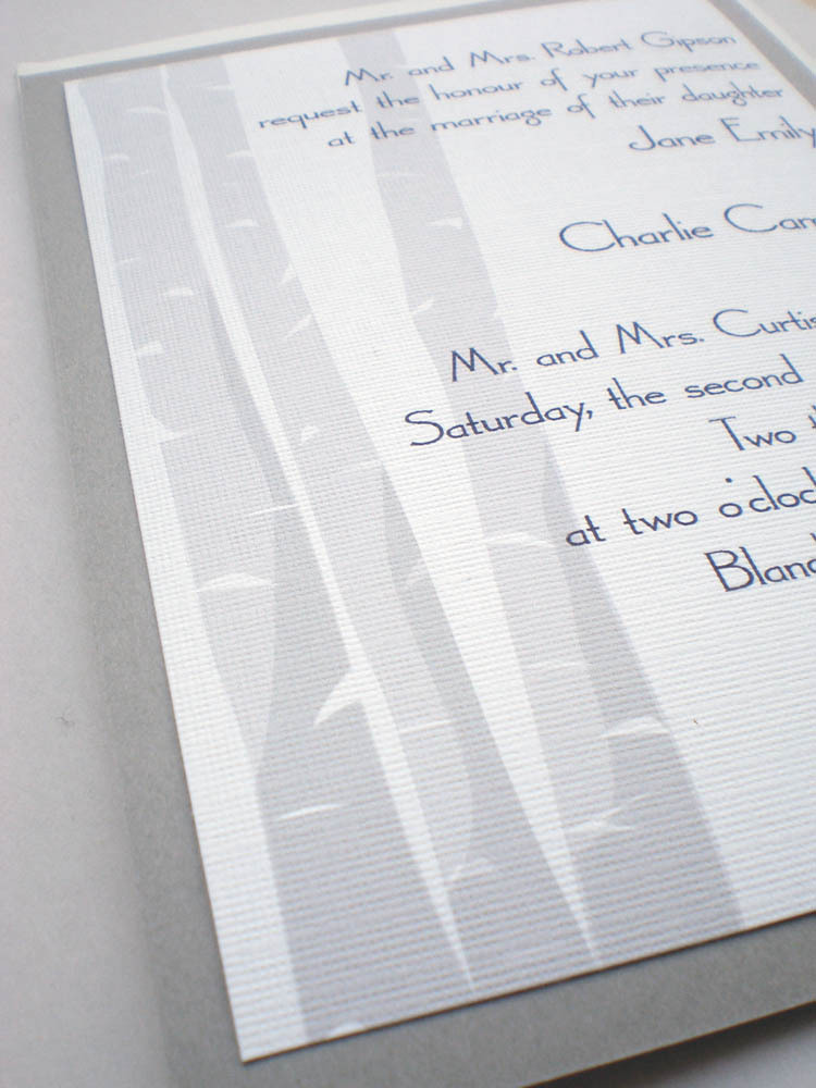 Stationery, white, gray, silver, invitation, Invitations, Grey, Tree, Rsvp, Set, Birch, Ps paper goods