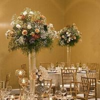 Reception, Flowers & Decor, white, gold, Centerpieces, Graceful designs
