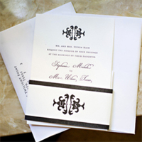 Stationery, Invitations, Design, Stephanie michele events