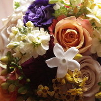 Inspiration, Flowers & Decor, Bridesmaids, Bridesmaids Dresses, Fashion, white, yellow, orange, purple, green, brown, gold, Bride Bouquets, Bridesmaid Bouquets, Fall, Flowers, Fall Wedding Flowers & Decor, Bouquet, And, Board, In, Unusual, Tones, Muted, Textures, Flower Wedding Dresses, Fall Wedding Dresses